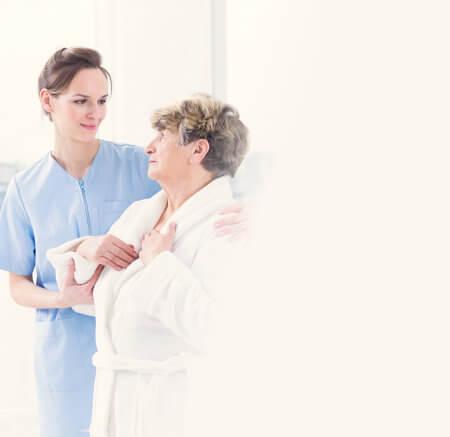caregiver with elder woman concept