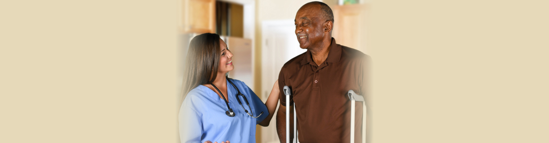 Health Care Worker and Elderly Patient